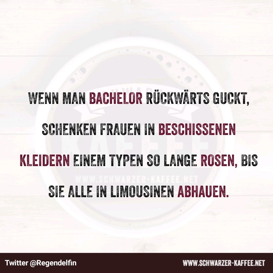 Bachelor Rückwärts Schwarzer Kaffee