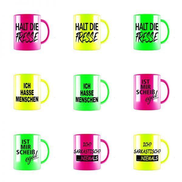 tassen neon